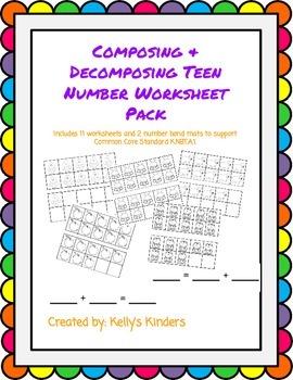Composing & Decomposing Teen Numbers Pack