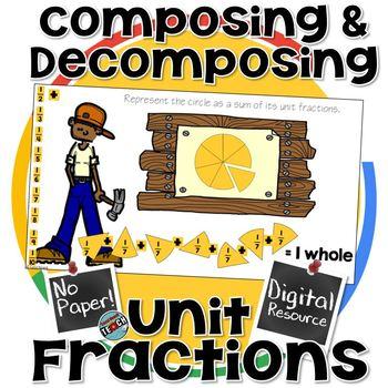 Composing & Decomposing Unit Fractions- Digital Resource