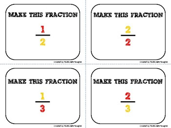 Composing Fractions Task Cards
