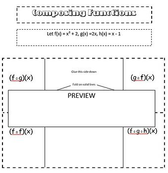 Composing Functions Foldable and Practice