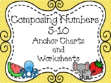 Composing Numbers 5-10 Anchor Chart and Worksheet Pack
