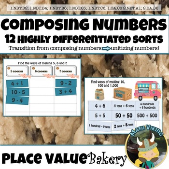 ADDITION & SUBTRACTION SORTS! Composing Numbers 5-20 Six Pack Plus PLACE VALUE!