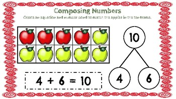 Composing Numbers (Apple Theme)-A Digital Math Center