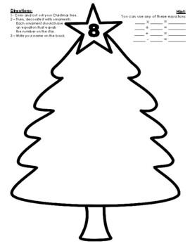 Composing Numbers Christmas Tree Craftivity