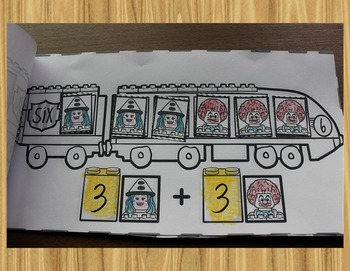 Composing Numbers with Clowns! - Addition Mini-Books for Kindergarten