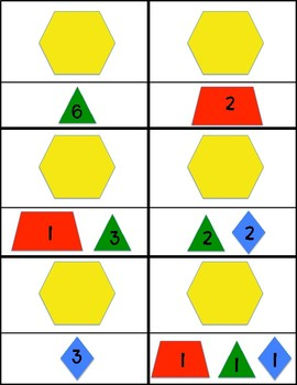 Composing Shapes Hexagons