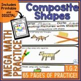Composing Shapes Mega Math Practice 1.G.2