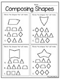 Composing Shapes- What Shapes Make This? Second Version
