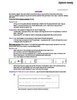 Music Composing Strategies K-5