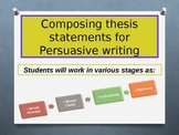 Composing Thesis Statements PPT Lesson & PDF Version of PPT
