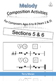 Composing Two Note melodies (Sections 5 & 6) - 4 bars long