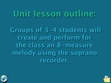 Composing an 8-measure melody by grades 3-5