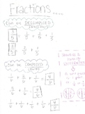 Composing and Decomposing Fraction Notes