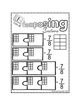 Composing and Decomposing Fractions: Interactive Notebook FREEBIE!