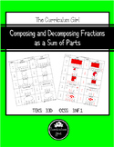 Composing and Decomposing Fractions  as a Sum of Parts (3.3D, 3.NF.1)