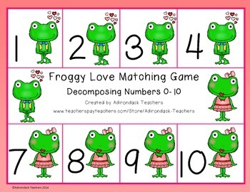 Composing and Decomposing Number 1-10 Froggy Love Matching Game