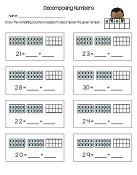 Composing and Decomposing Numbers 10 - 30