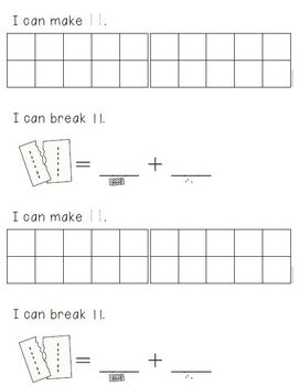 Composing and Decomposing Numbers (11-19) Differentiated Materials