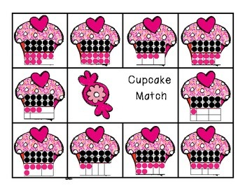 Composing and Decomposing Numbers 11-20 Cupcake Matching Game