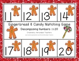 Composing and Decomposing Numbers 11-20 Gingerbread Matching Game