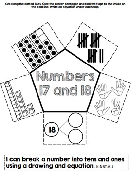 Composing and Decomposing Numbers 11-20 Interactive Notebook by Kinder League