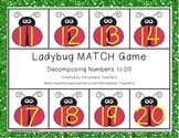 Composing and Decomposing Numbers 11-20 Ladybug Matching Game
