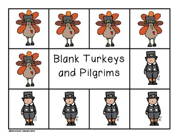 Composing and Decomposing Numbers 11-20 Turkey Matching Game