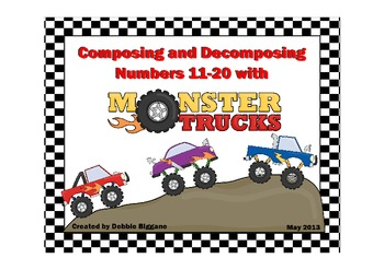 Composing and Decomposing Numbers 11-20 with Monster Trucks