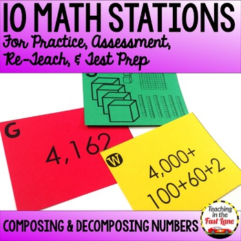 Composing and Decomposing Numbers Test Prep Math Stations