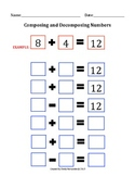 Composing and Decomposing Numbers Math Mat
