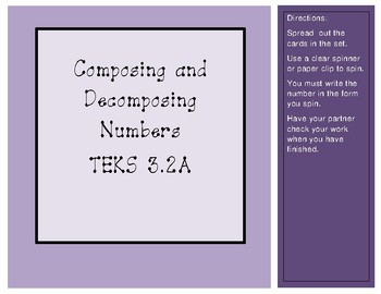 Composing and Decomposing Numbers TEKS 3.2A