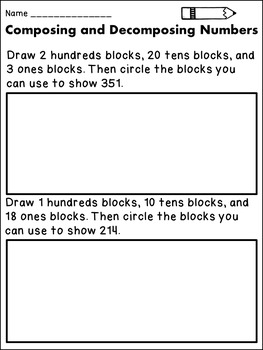 Composing and Decomposing Numbers 2nd Grade
