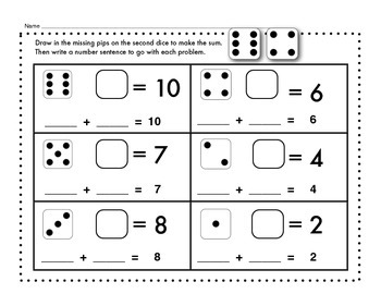 Composing and Decomposing Numbers with Dice