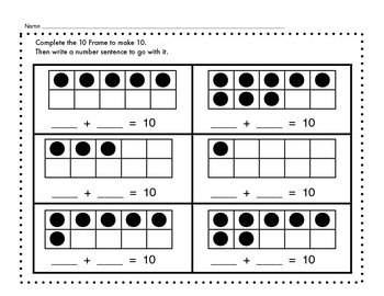 Composing and Decomposing Numbers with a Ten Frame