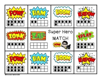 Composing and Decomposing Super Hero Matching Game 0-10