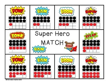 Composing and Decomposing Super Hero Matching Game 11-20