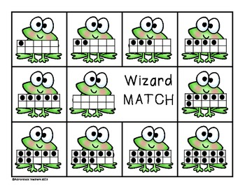 Composing and Decomposing Wizard Matching Numbers 0-10 Game