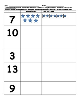 Composing and decomposing Numbers tens and ones Common Core