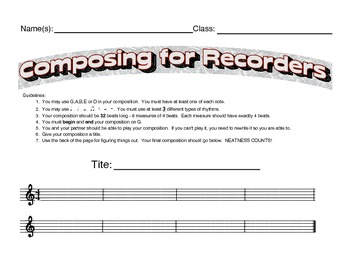 Composing for Recorders