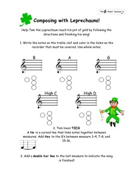 Composing with Leprechauns: A Guided St. Patrick's Day Recorder Composition