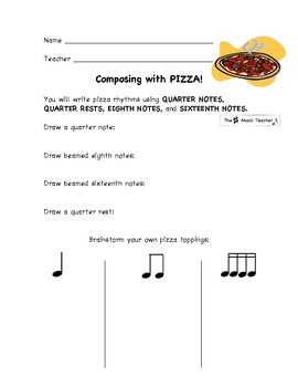 Composing with Pizza! Elementary Music Lesson