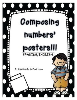 Composing/Decomposing Numbers' Posters!!! (Spanish/English)