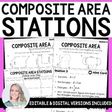 Area of Composite Figures Stations - Great for Distance Learning