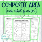 Composite Area Cut and Paste Worksheet - Area of Irregular Figures