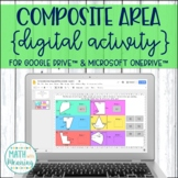 Composite Area DIGITAL Activity for Google Drive & OneDrive - Irregular Figures
