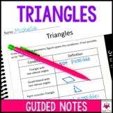 Triangles Guided Notes - Triangles Notes