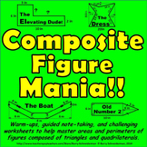 Composite Figure Mania! - Area and Perimeter of Composite