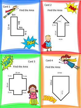 Area of a Composite Figure: Activities and Task Cards