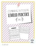 Combining Integers Leveled Practice