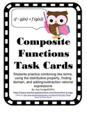 Composite Functions Task Cards